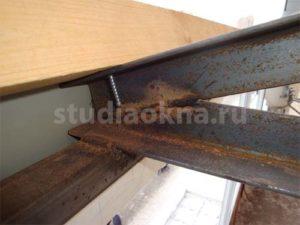 сварное соединение для балкона на крышу