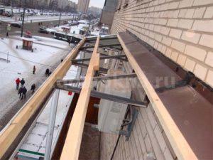 обрешетка для крыши над балконом