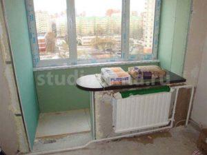 совмещение комнаты с лоджией