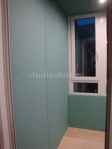 отделка балкона кипсокартоном