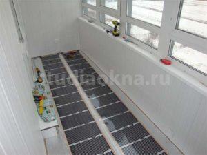 инфракрасный пленочный пол на балконе