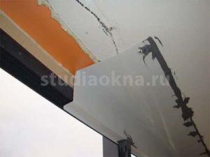 защита балкона от воды