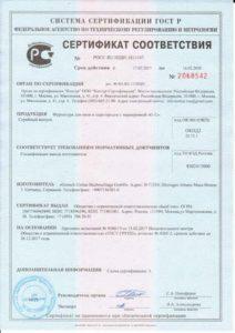 Сертификат фурнитура GU