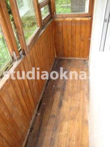 Старый пол на балконе