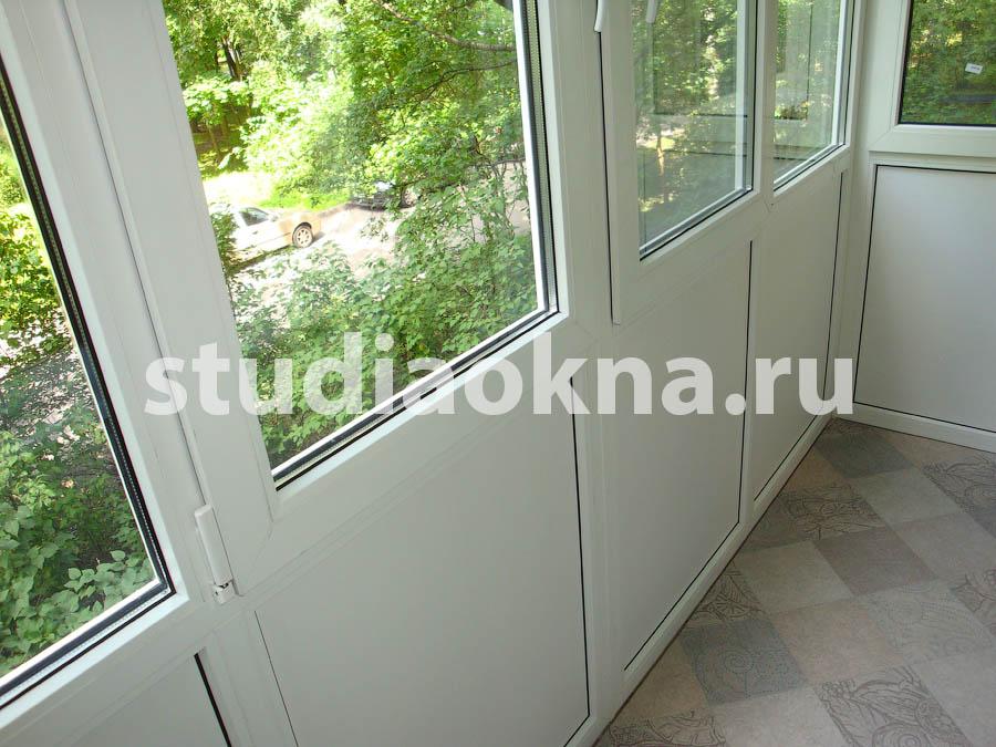 Остекление балкона от плиты