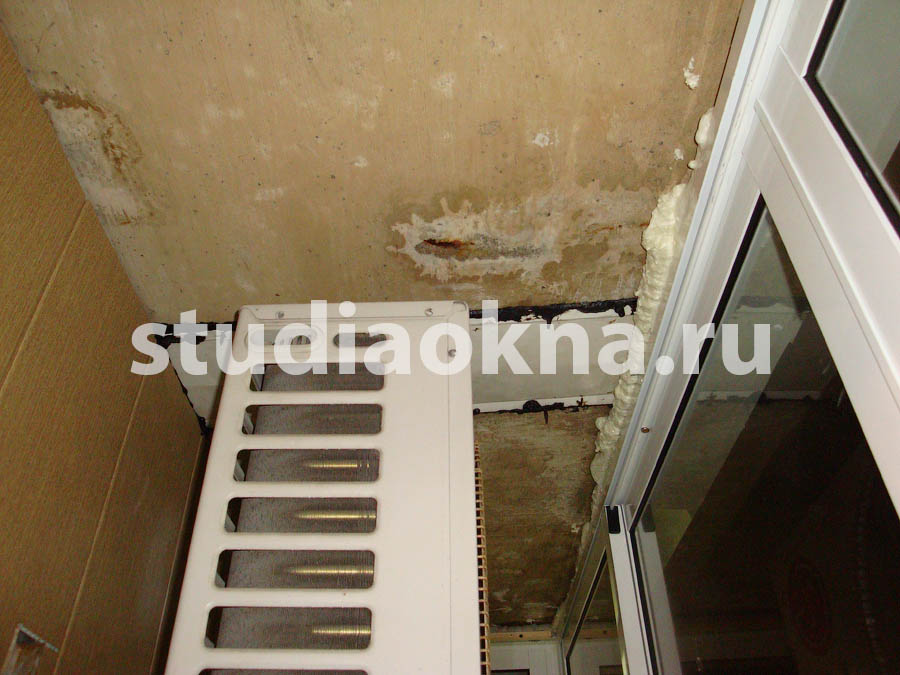 решение протечек на балконе