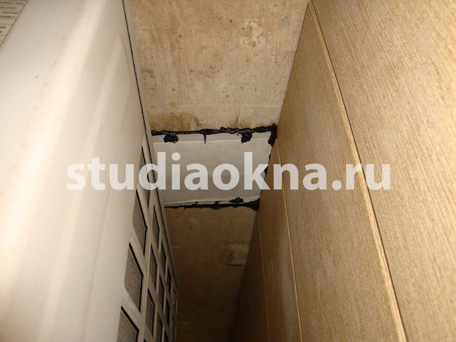 Течёт балконная плита