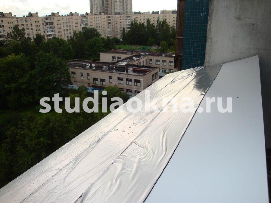 Шумоизоляция водоотлива на балконе