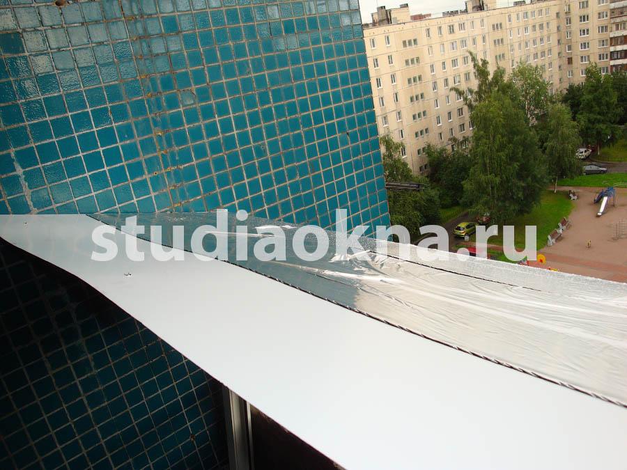 Шумоизоляция козырька на балконе