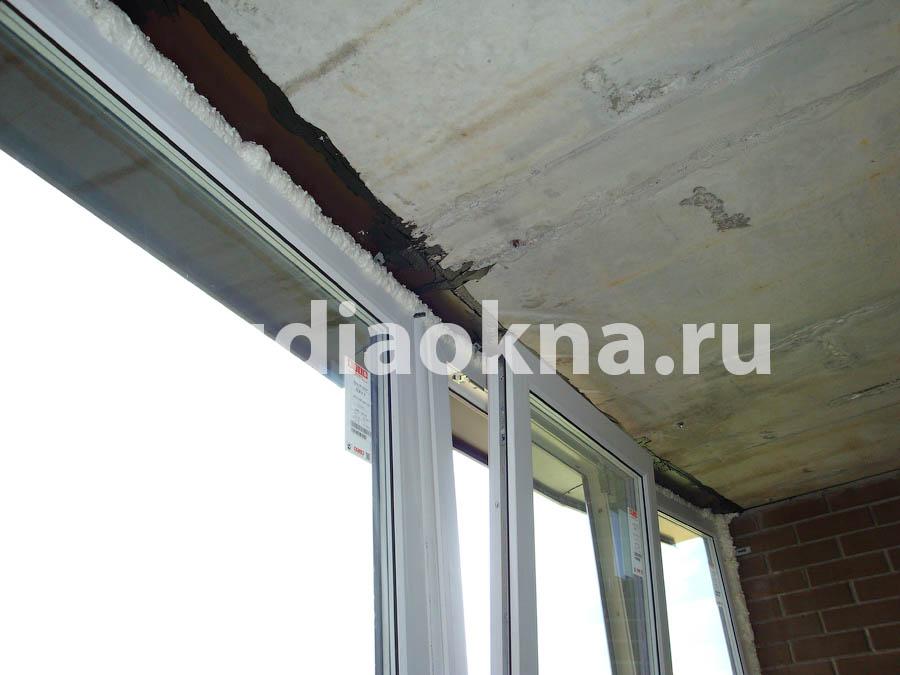 герметизация козырька на балконе