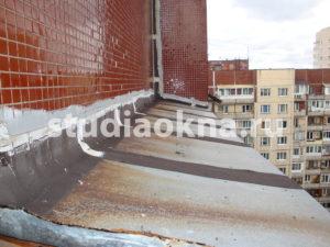 демонтаж крыши на балконе