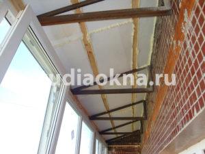 шумоизоляция крыши на балконе