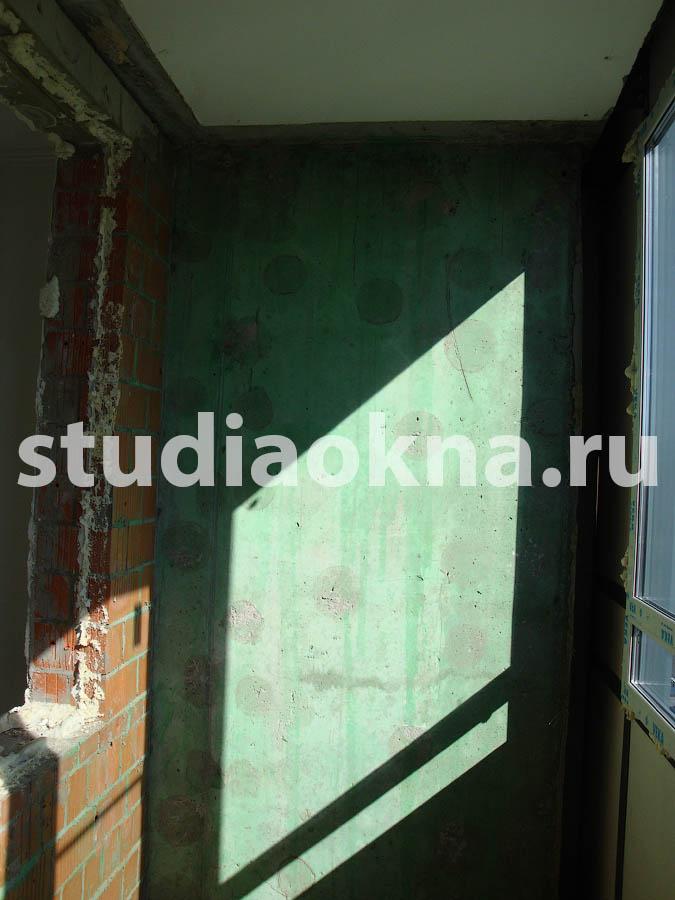стена на лоджии без утеплителя
