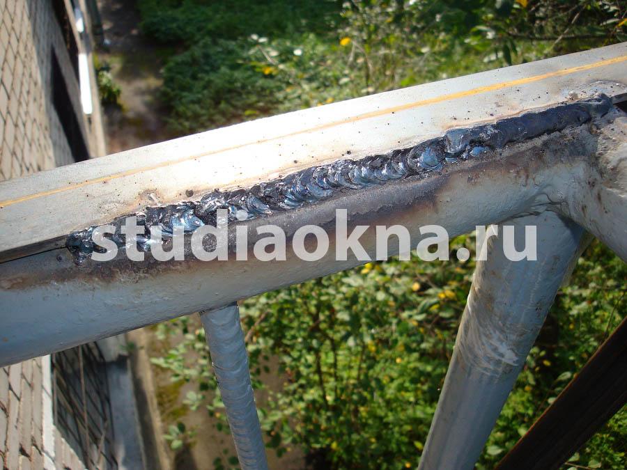 сварной шов на балконе
