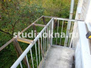 металлический каркас для расширение балкона