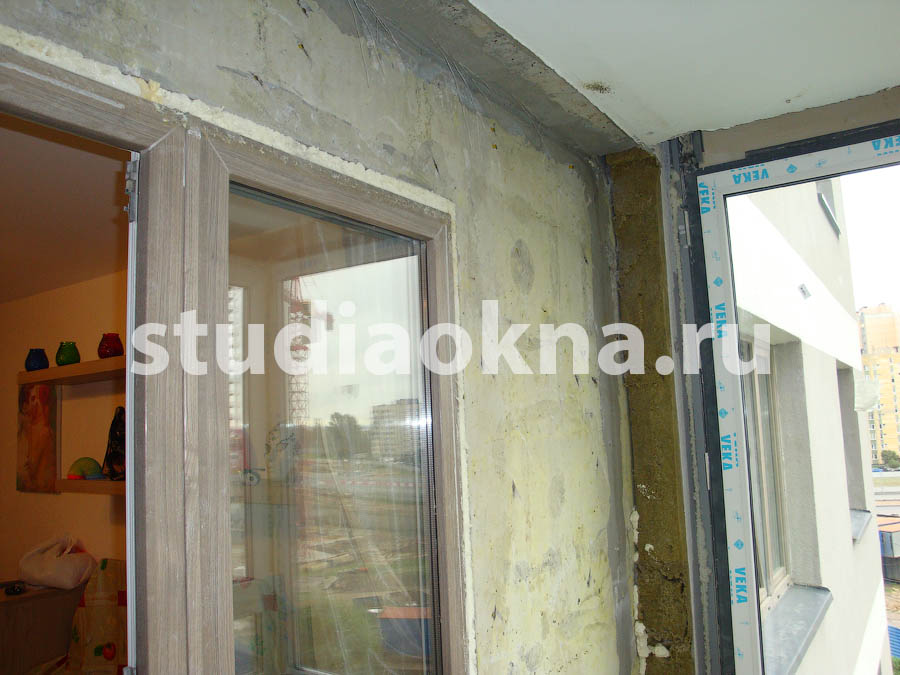 увеличение балкона после демонтажа утеплителя на балконе