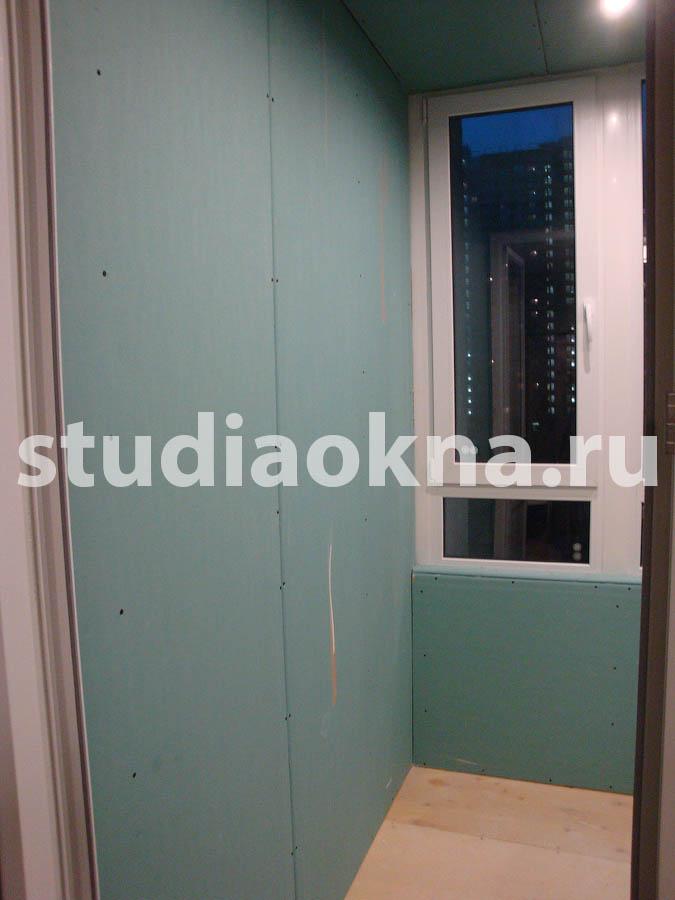отделка балкона влагостойким гипроком