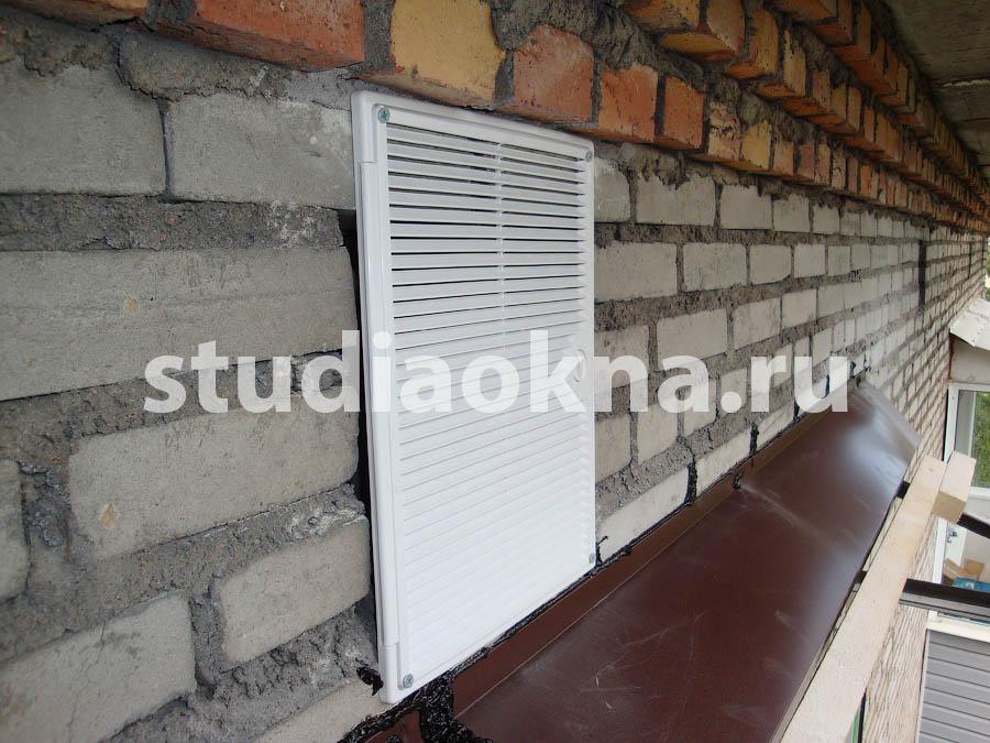 вентиляционная решетка на чердак
