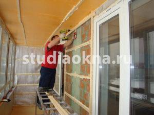 направляющие для отделочного материала на балконе