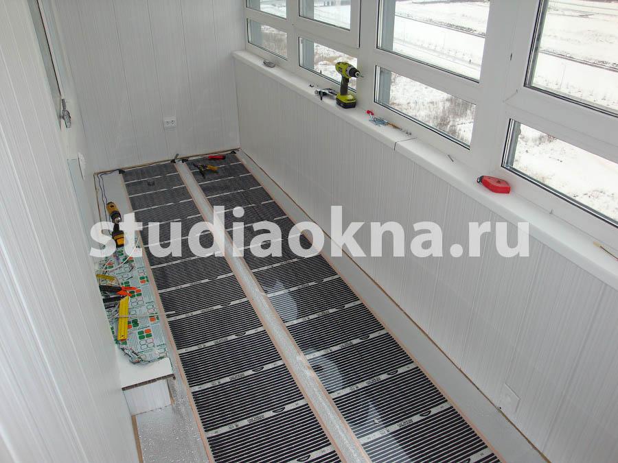 теплый пленочный пол на балконе