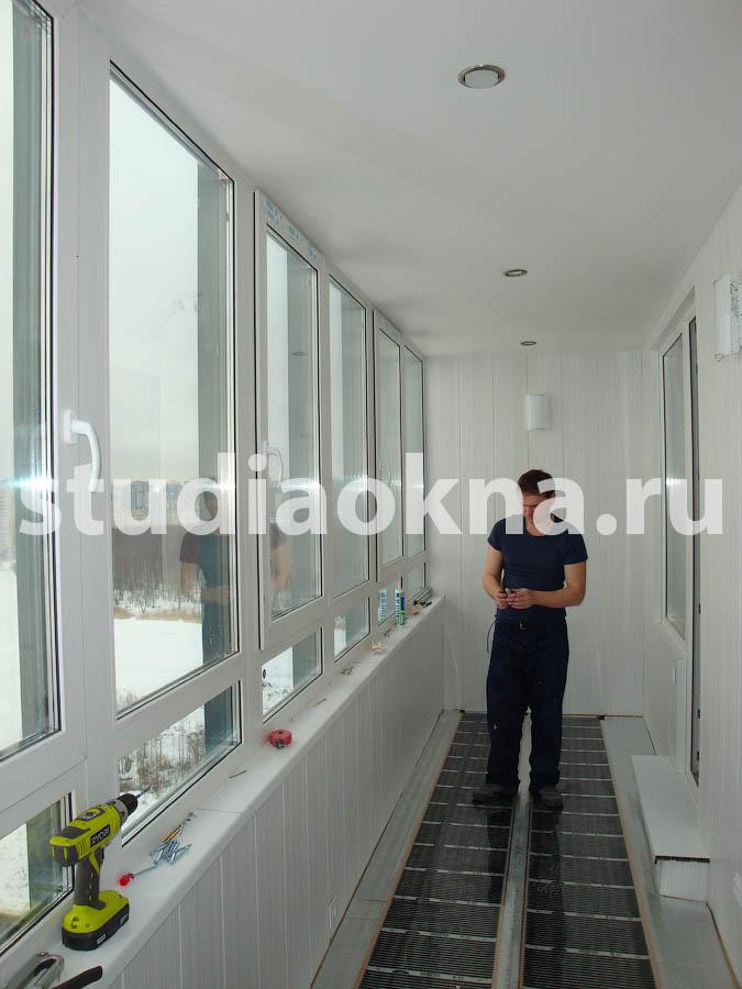 теплый плёночный пол на балконе