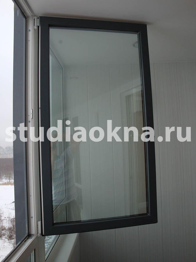 крашеное окно в цвет фасада