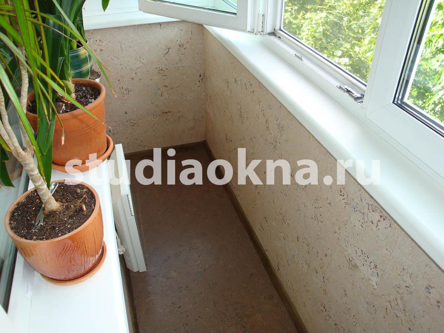 пробковый пол на балконе