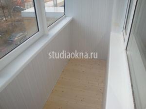 шпунтованная доска на пол на балконе