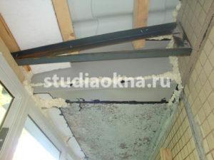 стыковка крыши с плитой