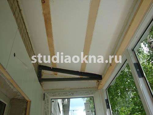 шумоизоляция крыши над балконом
