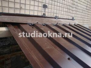 профнастил на крышу над балконом