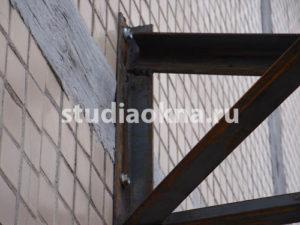 крепление консоли для крыши над балконом