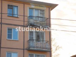 разрушенная плита балкона без крыши