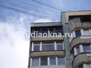 прогнившее остекление балкона