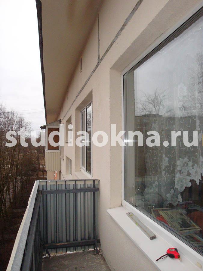 балкон без козырька