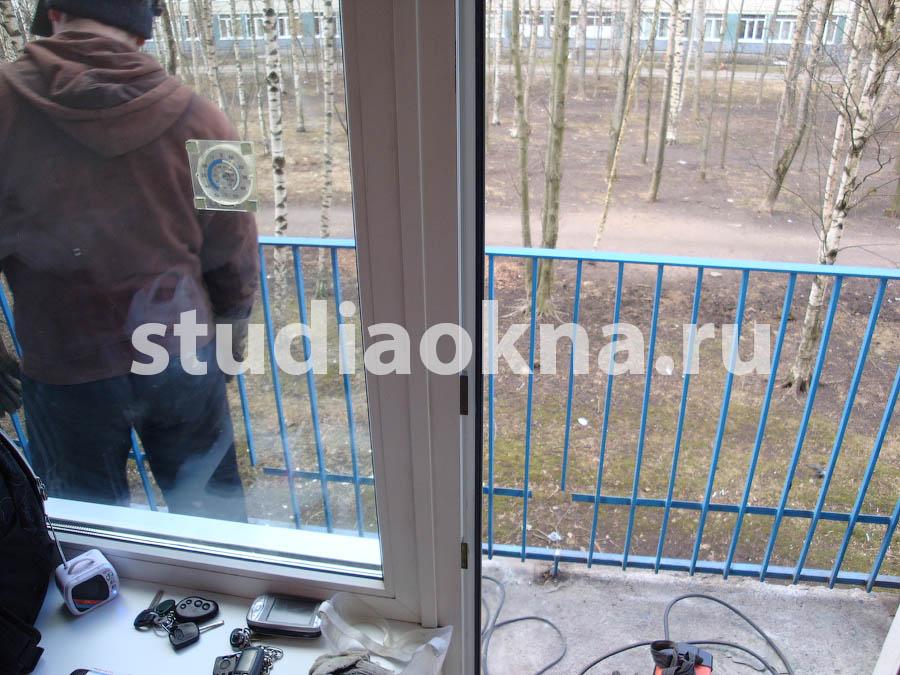 подготовка перил на балконе