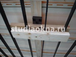 крепление сайдинга на балконе